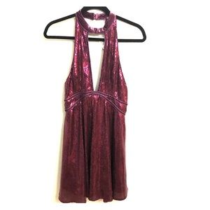 Free People Purple Sequined Dress Sz4